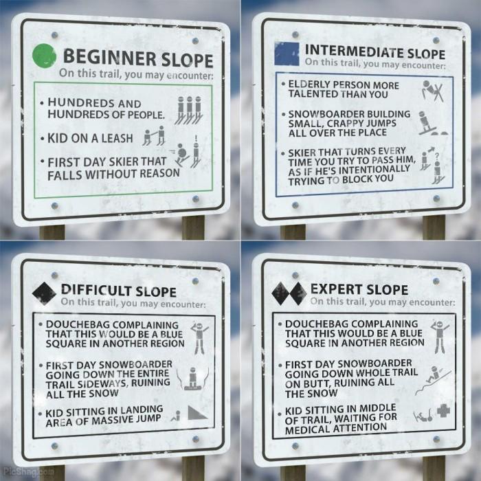 humorous ski signs