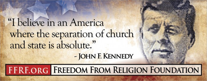 john f. kennedy - I believe in an america where the separation of church and state is absolute