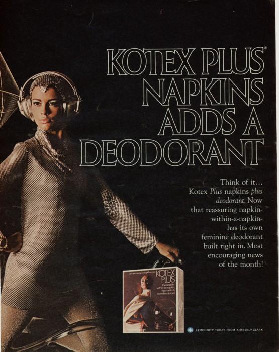 kotex plus napkins adds a deodorant