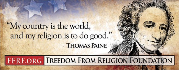 thomas paine - my country is the world, and my religion is to do good