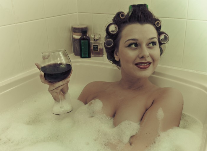 wine in the tub wallpaper
