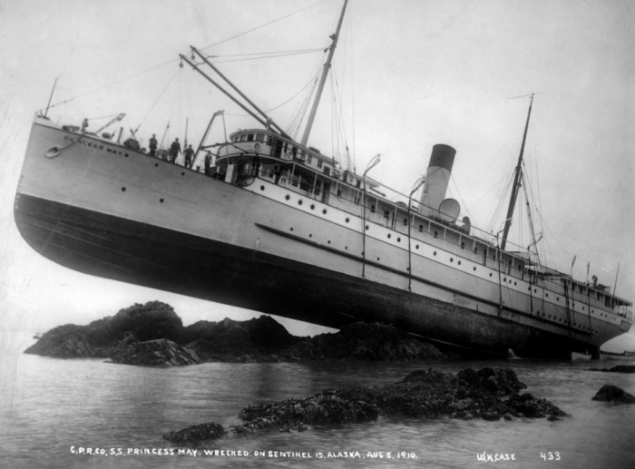 SS Princess May - wrecked on sentinel island, alaska 1910