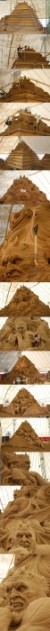 complex sand castle