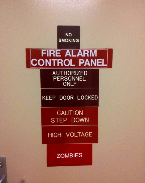 fire alarms and zombies