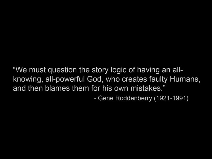 gene roddenberry on questining everything
