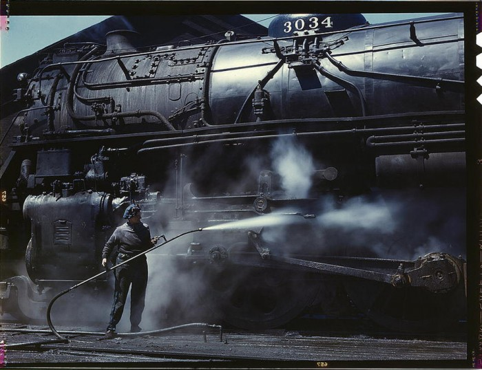 steam engine clean up