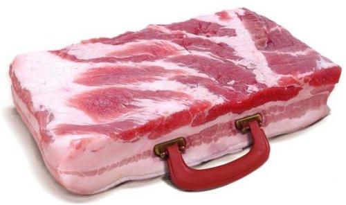bacon briefcase Useless briefcase wtf Food