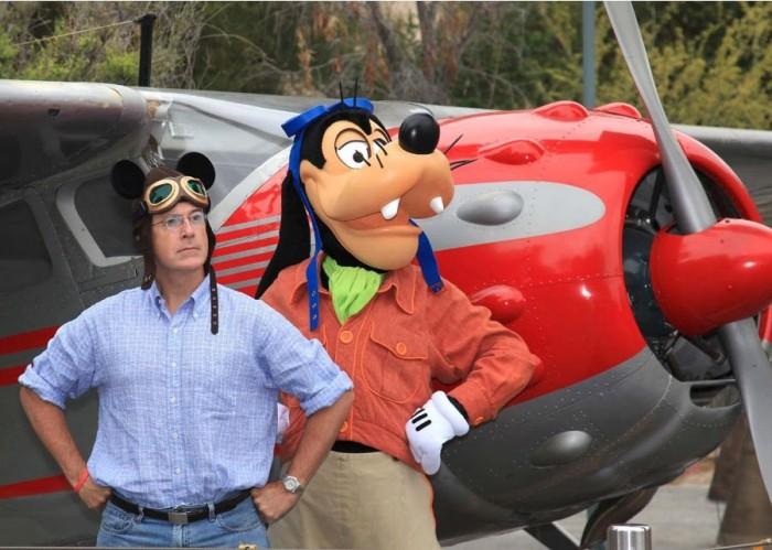 colbert is a goofy pilot
