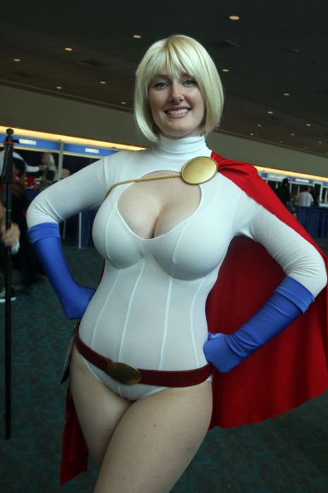 nsfw - power girl cosplayer