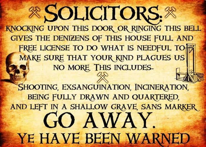 solicitor notice