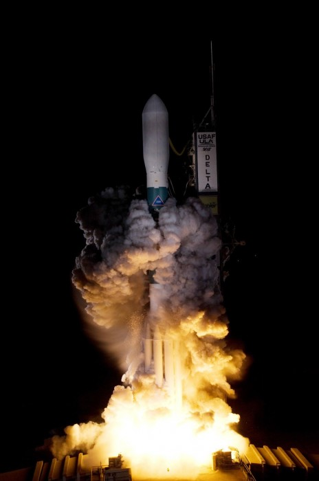 A Delta II rocket carrying NASA's Kepler spacecraft