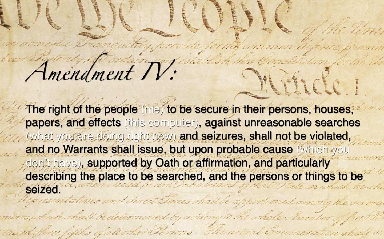 Amendment IV Wallpaper