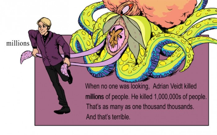 adrian veidt killed millions of people and that's terrible
