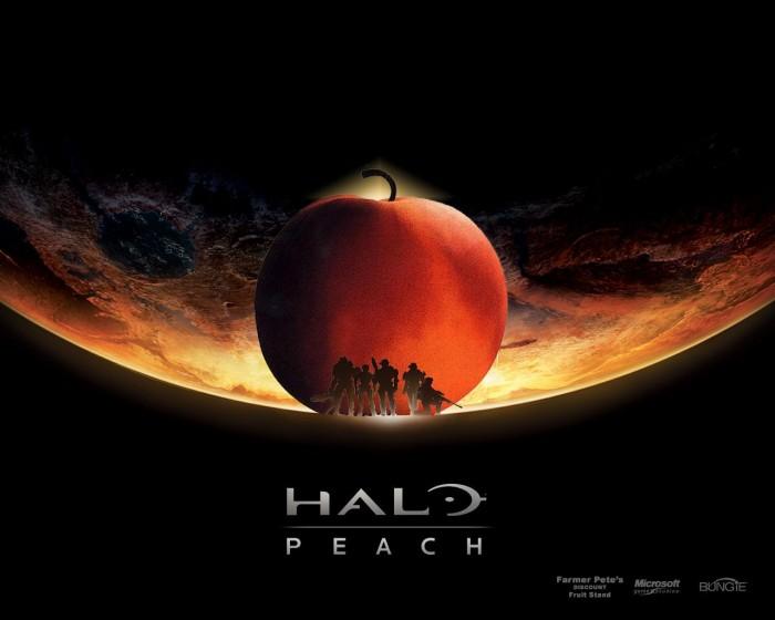 halo peach by zzombiexxiii