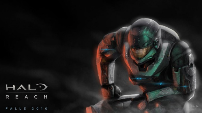 halo reach crouch 700x393 halo reach crouch Wallpaper halo reach halo Gaming