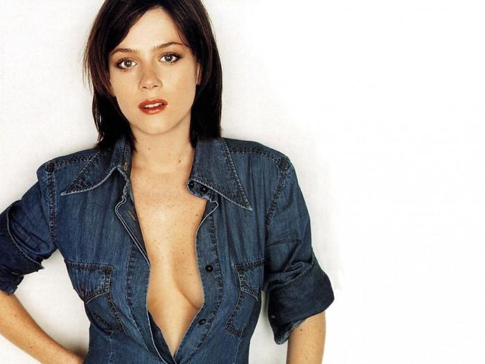 Anna Friel - open shirt