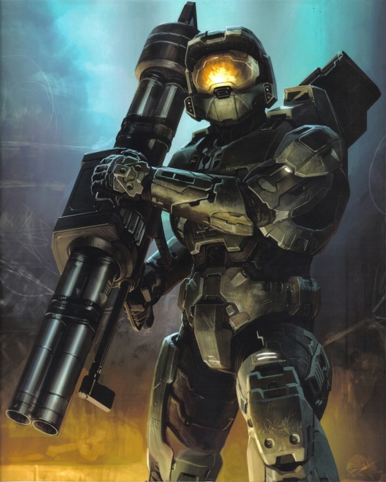 Master chief with rocket launcher