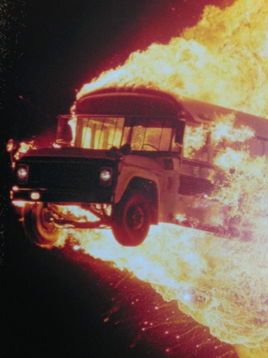 flaming bus 525x700 flaming bus