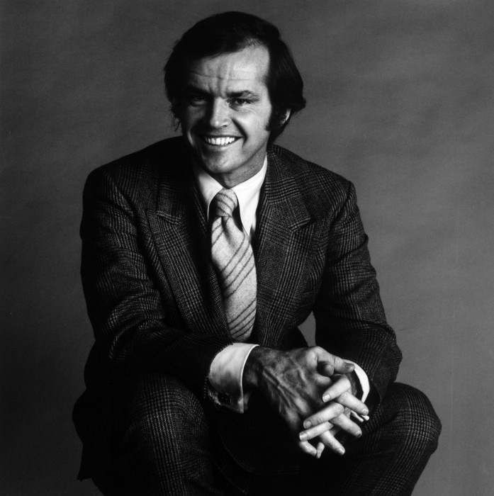 jack nicholson in a suit and tie