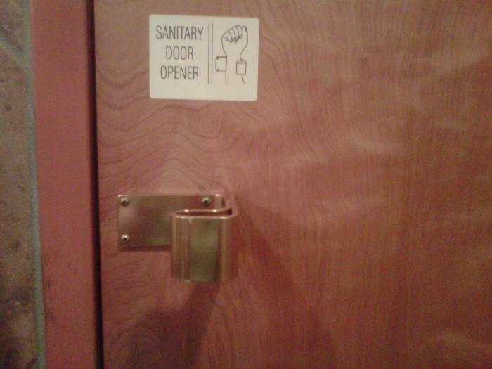 sanitary door opener