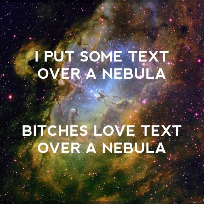 i put some text over a nebula