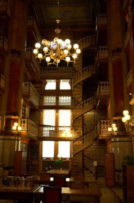 library spiral staircase
