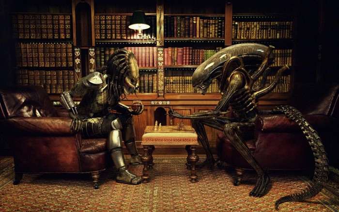 alien vs predator chess game