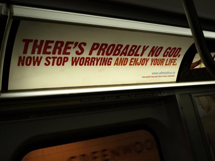 atheist bus advert