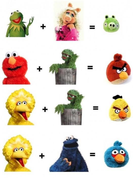 sesame street - angry birds