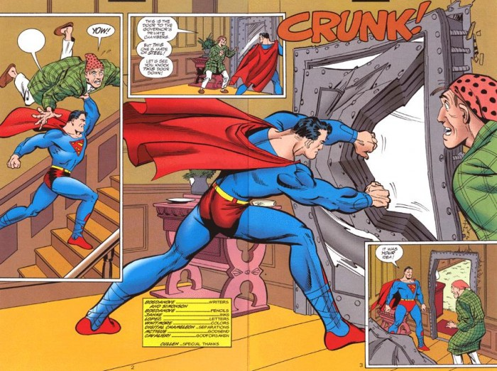 superman is destructive 700x523 superman is destructive wtf Wallpaper Dark Humor Comic Books