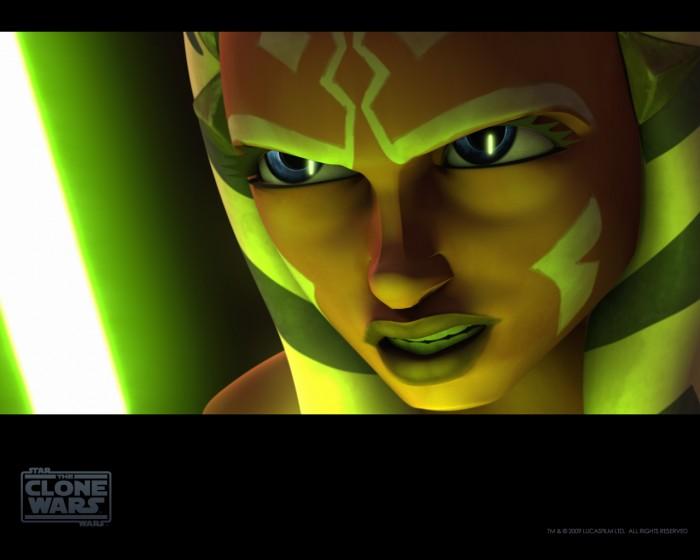Ahsoka Tano - green laser sword thing