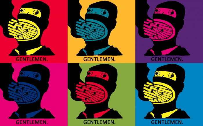 GENTLEMEN 700x437 GENTLEMEN Wallpaper Humor Awesome Things Art