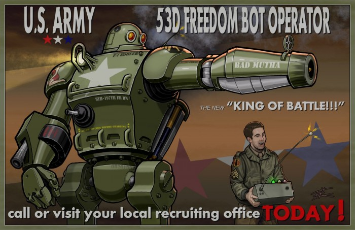 US Army 53rd freedom bot operator 700x453 US Army 53rd freedom bot operator Wallpaper Technology Military Fantasy   Science Fiction
