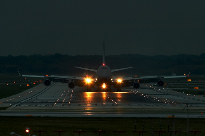 airliner on the runway