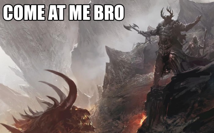 come at me bro demon 700x437 come at me bro   demon Wallpaper Humor Forum Fodder Fantasy   Science Fiction