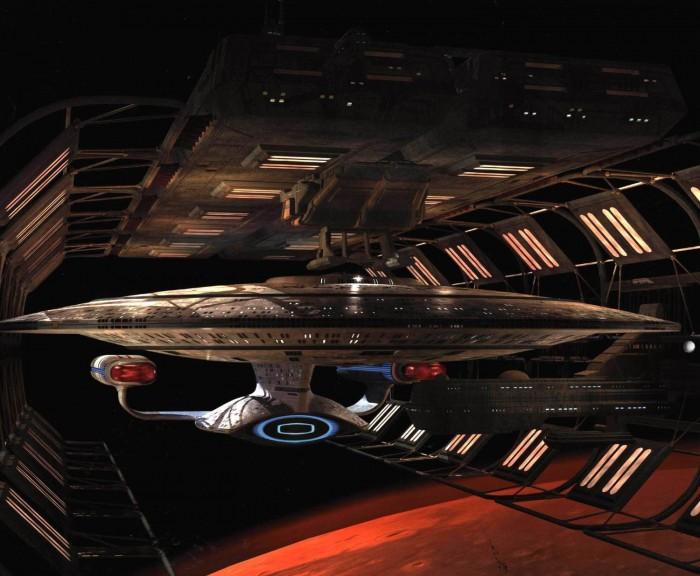 enterprise-D in space dock