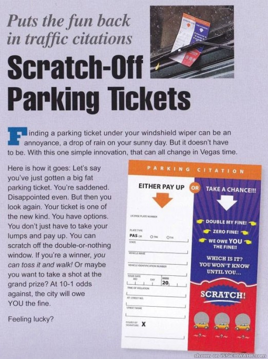 scratch-off parking tickets