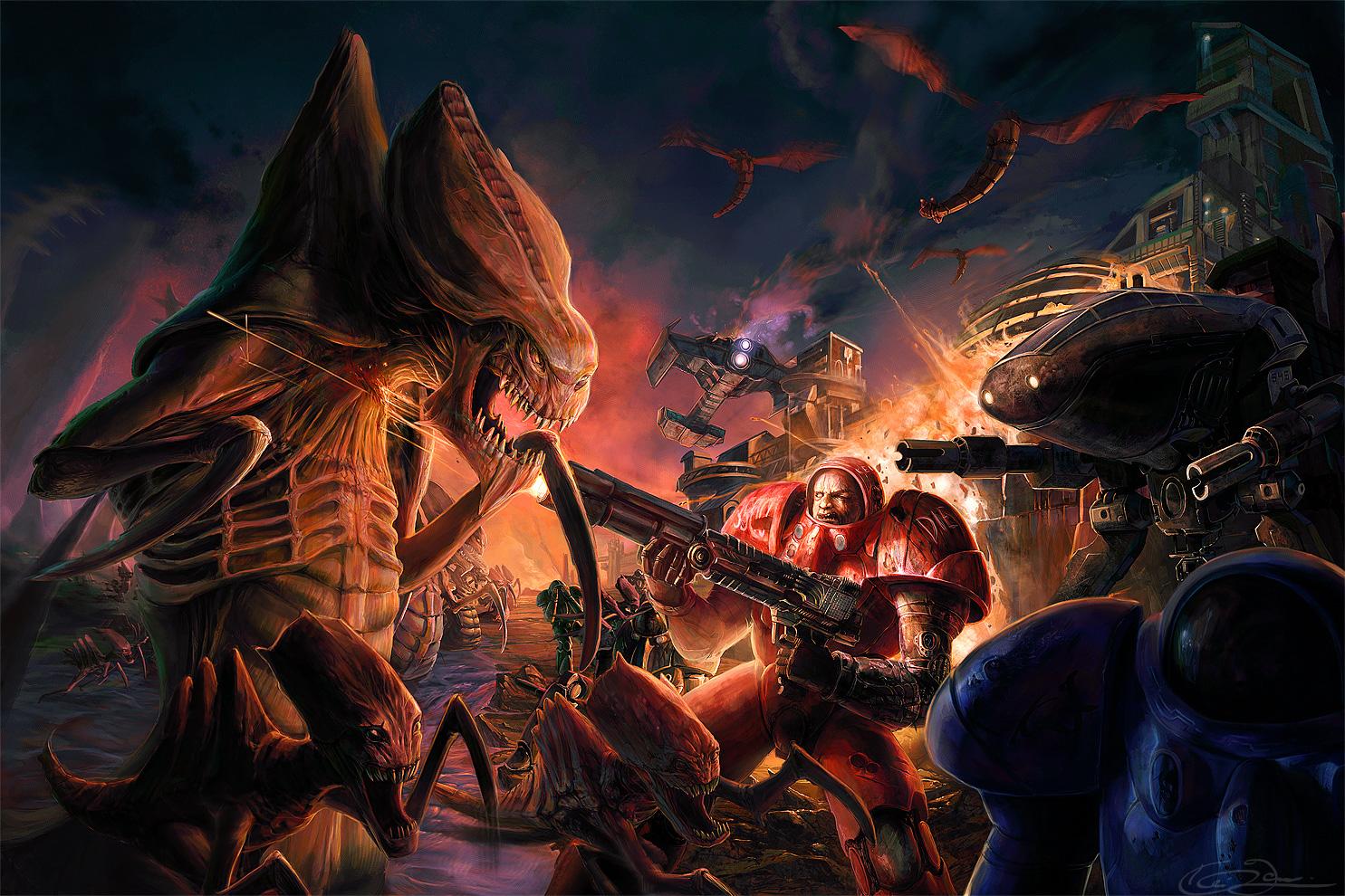space marines vs zerg