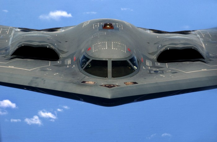 stealth bomber in flight