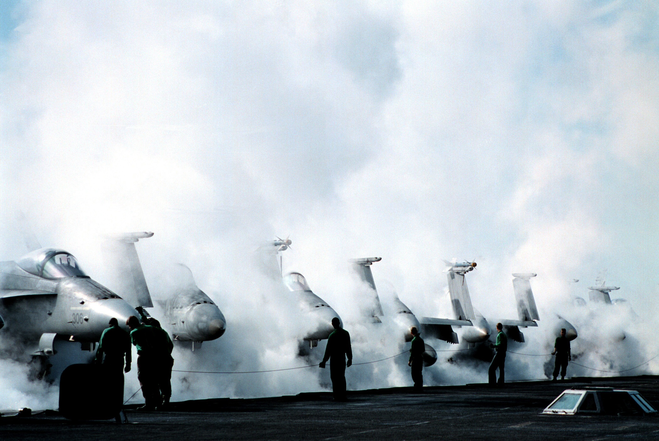 steamy launch deck