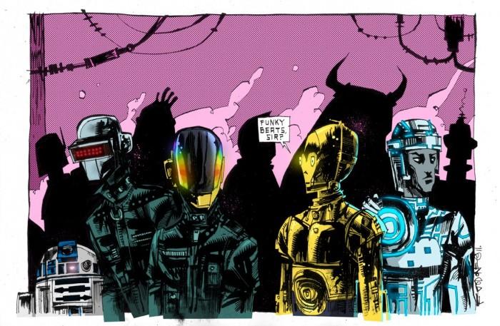 R2D2 Daft Punk C3PO Tron 700x457 R2D2 Daft Punk C3PO Tron Wallpaper TRON star wars Daft Punk