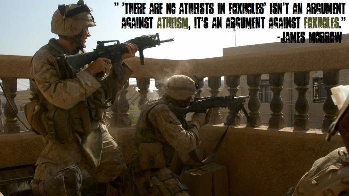 athiests in foxholes