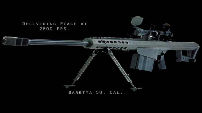 baretta 50 cal - delivering peace at 2800 FPS