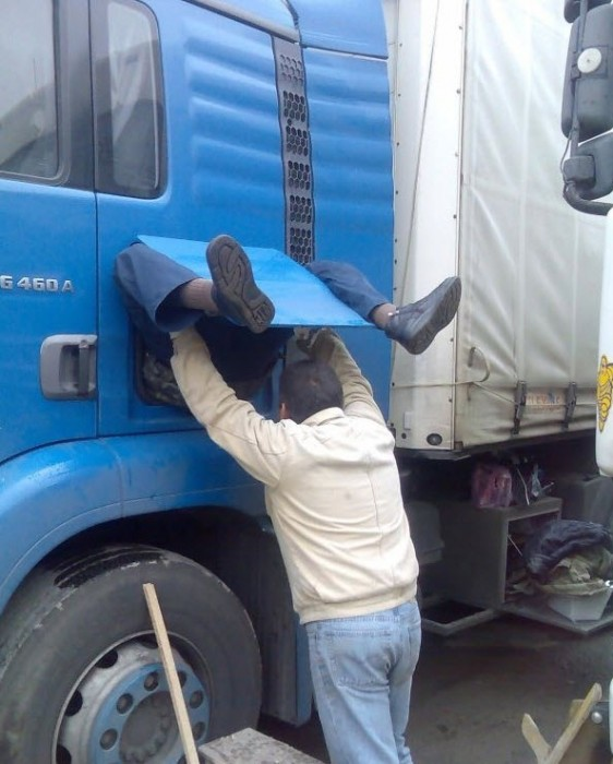 birth of a trucker
