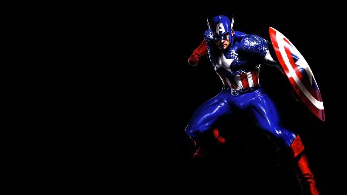 captain america in the dark