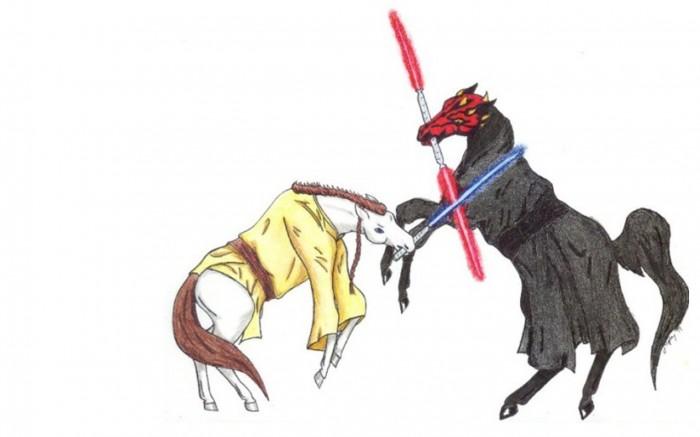light saber ponies