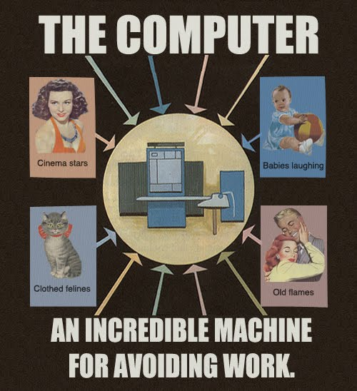 the computer an incredible machine for avoiding work the computer   an incredible machine for avoiding work Humor Forum Fodder Computers