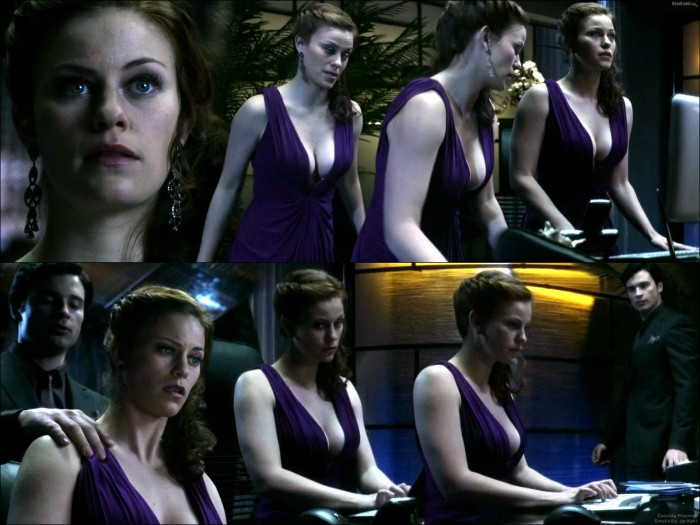 Cassidy Freeman - Smallville - purple dress