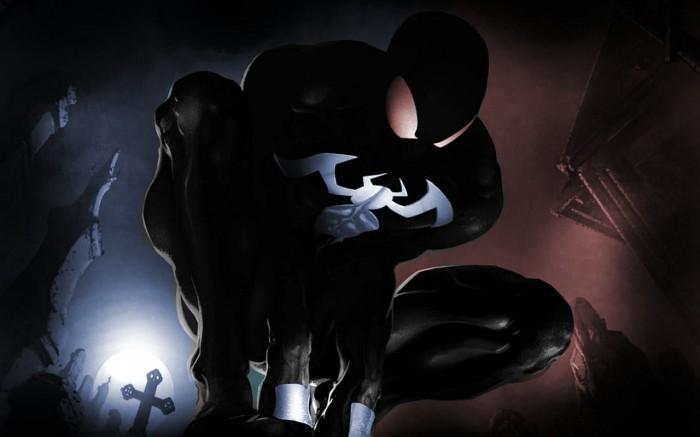 black spider-man