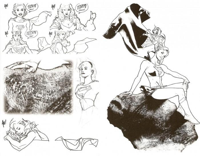supergirl sketches